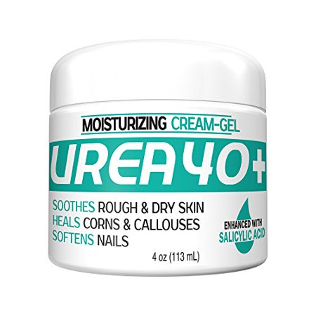 Urea Cream 40 Plus 2% Salicylic Acid Cream, Dermatologist Recommended One-Step Exfoliating Skin Moisturizer Foot Therapy, 4oz by UREA 40 Dry Skin Therapy Foot Cream