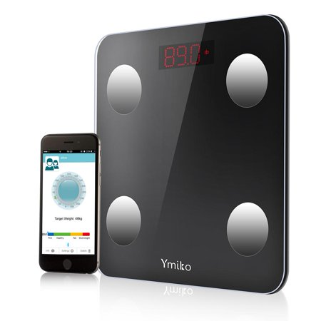 Zerone Bluetooth Body Fat Scale -Smart Digital Body Weight Bathroom Scale with IOS and Android App BMI Scale for Body Weight, Body Fat, Water, Muscle Mass, BMI, BMR, Bone Mass and Visceral Fat ()