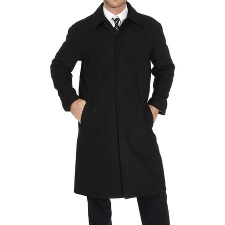 Alpine Swiss Men's Zach Knee Length Jacket Top Coat Trench Wool Blend (All Weather Trench Coat)