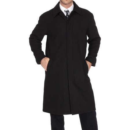 Alpine Swiss Mens Zach Knee Length Jacket Top Coat Trench Wool Blend Overcoat