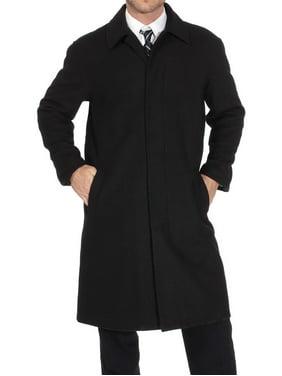 62848ba409 Product Image Alpine Swiss Men's Zach Knee Length Jacket Top Coat Trench  Wool Blend Overcoat