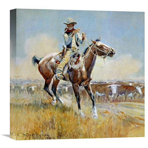 Global Gallery 'Beef for the Fighters' by Charles M. Russell Painting Print on Wrapped Canvas