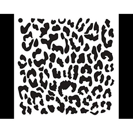 Leopard print stencil by studior12 repeating pattern animal art leopard print stencil by studior12 repeating pattern animal art reusable mylar template painting chalk mixed media use for crafting maxwellsz