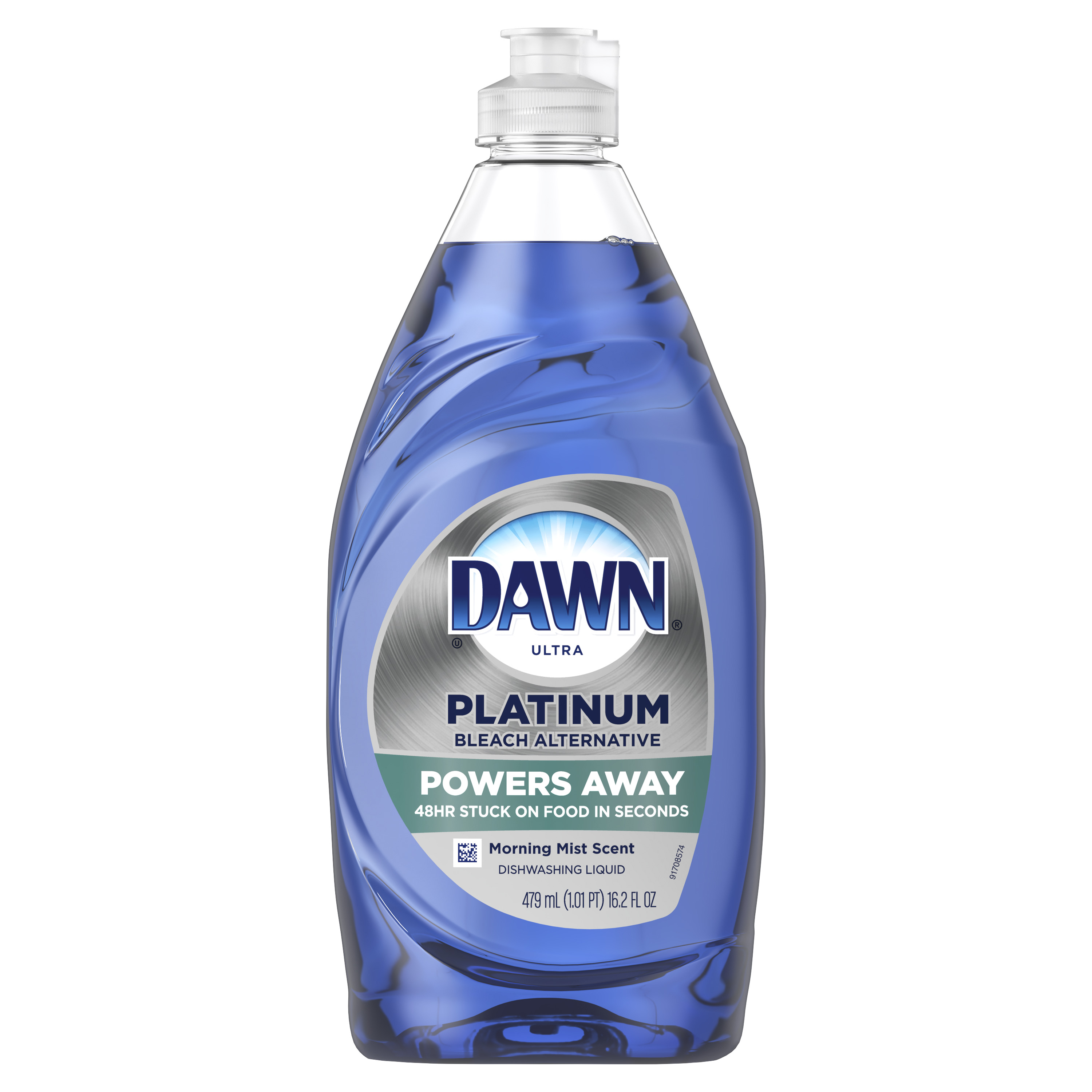 Dawn Platinum, Bleach Alternative, Dishwashing Liquid Dish Soap, Morning Mist, 16.2 fl oz