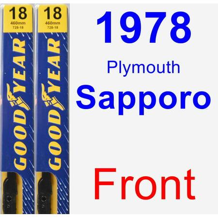 1978 Plymouth Sapporo Wiper Blade Set/Kit (Front) (2 Blades) - Premium ()