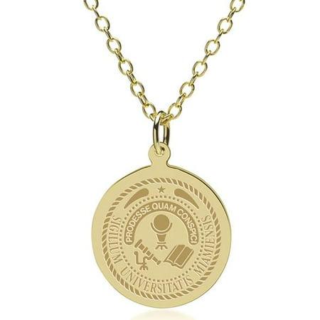Miami University 14K Gold Pendant   Chain