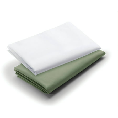 Graco Pack N Play Waterproof Sheets  2Pk  Sage White