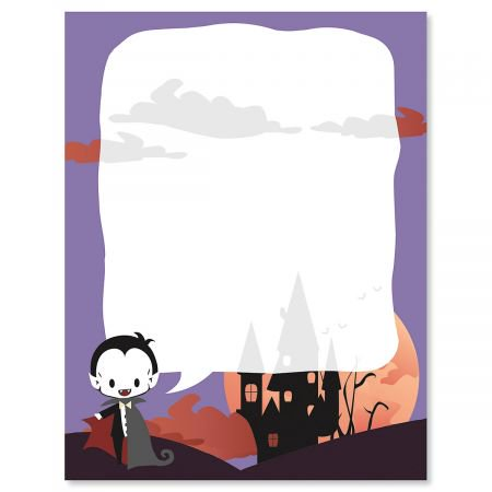 Vampire Halloween Letter Papers - Fall letter papers are 8-1/2