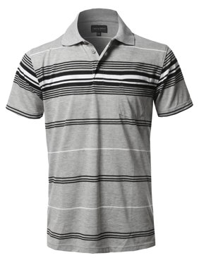 c0bf77dae Product Image FashionOutfit Men's Casual Striped Short Sleeves Three-Button Polo  T-Shirt