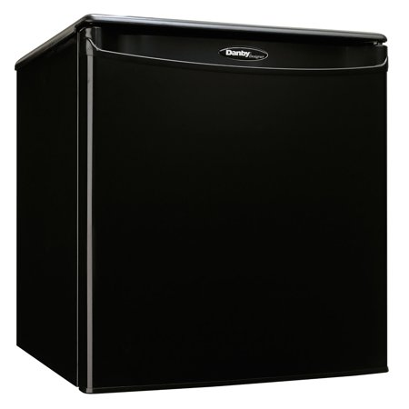 Danby Designer 1.7 Cubic Foot Steel Home Mini Fridge Compact Refrigerator, Black