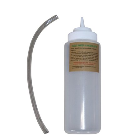 Suse's Kinder Wide Mouth Powder Duster for Diatomaceous Earth and other Pesticides