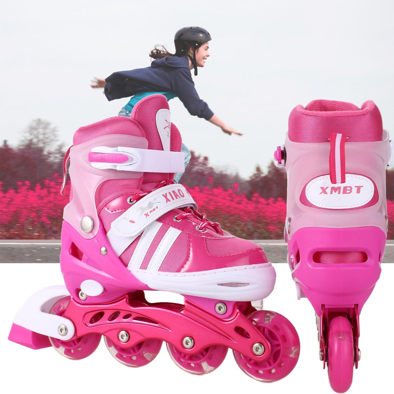 Christams Gift  Elecmall  Elecmall Children Inline Skate Light Up Wheel  RollerTracer Adjustable Elec