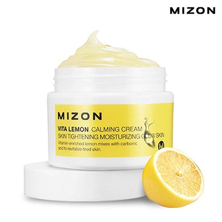 Mizon Vita Lemon Sparkling Skin Cream, 1.69 Oz (Lemon Skin Lightening Serum)