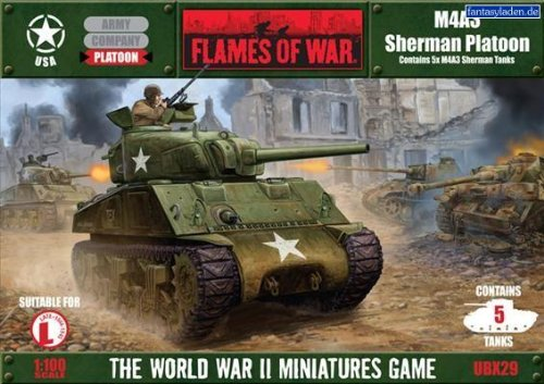 Flames of War M4A3 Sherman Platoon