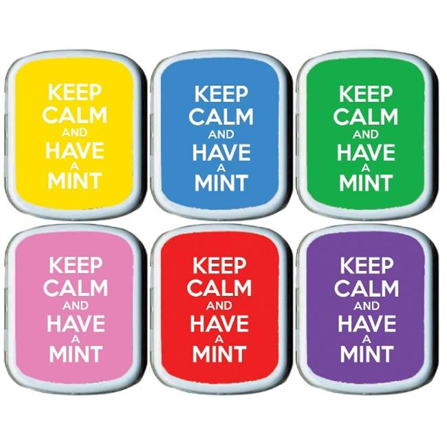 The MintBox PM-WHTSE1749 Keep Calm Mint Tins  24 Pack  3 Designs
