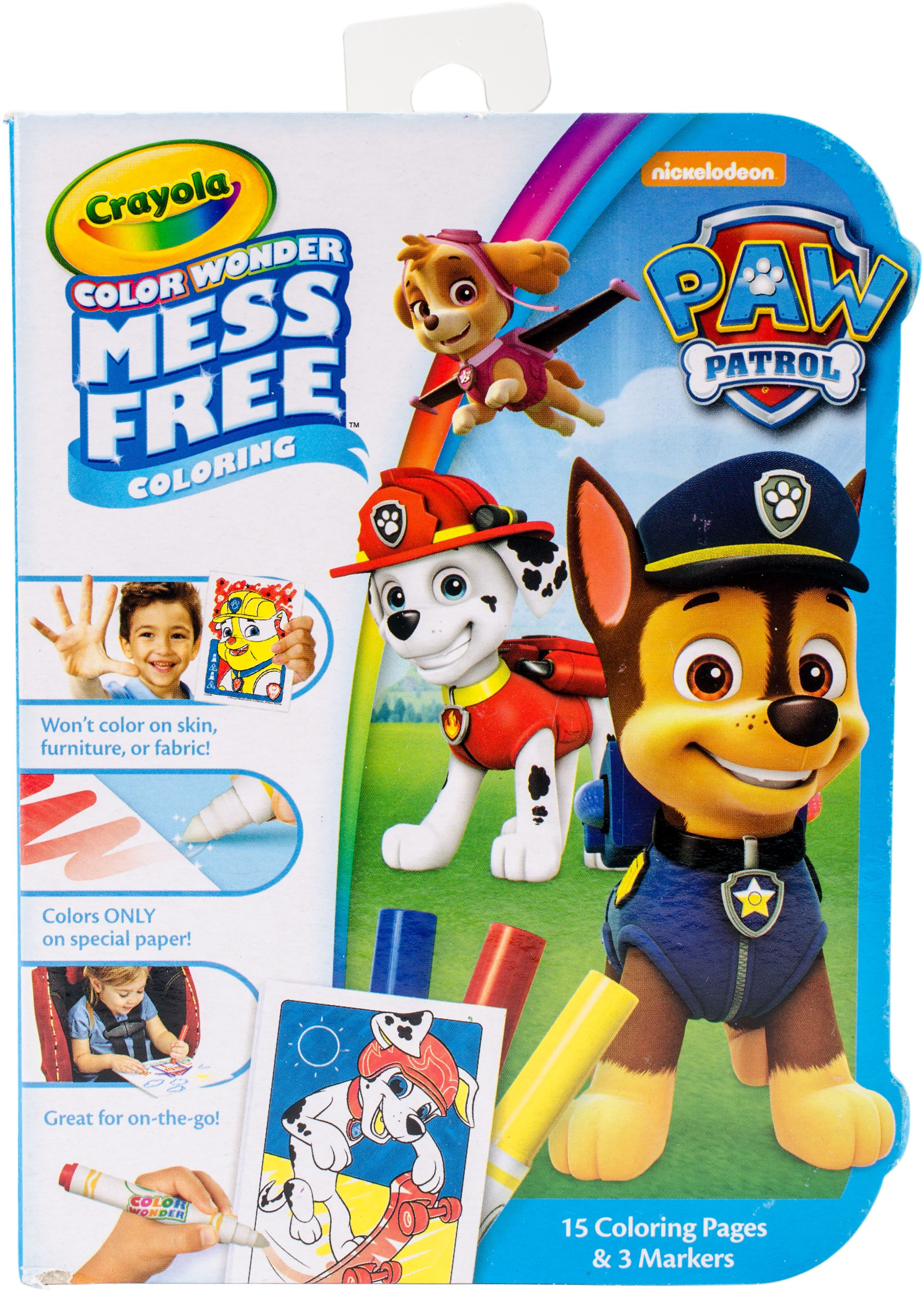 Crayola Color Wonder On The Go Coloring Kit Paw Patrol