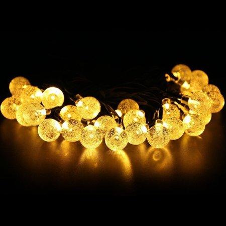 Christmas Solar Powered Globe Lights, 30 LED Globe Ball Fairy String Light for Outdoor, Xmas