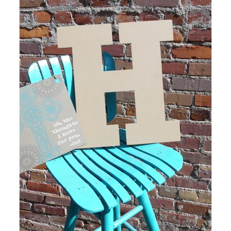 Craft Wooden Letter 6'' H, Unfinished Wood Wall Letter, Rockwell