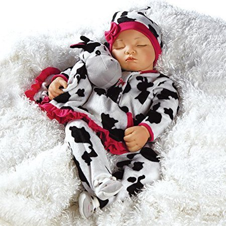 Paradise Galleries Reborn Baby Girl Newborn Doll Over The Moooon, 19 inch Sleeping Baby in GentleTouch Vinyl, 4-Piece Set