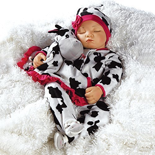 Paradise Galleries Reborn Baby Girl Newborn Doll Over The Moooon, 19 inch Sleeping Baby in GentleTouch Vinyl, 4-Piece Set
