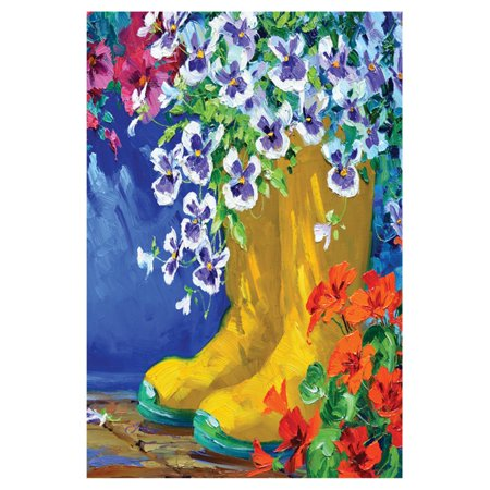 Toland Home Garden Boots and Blossoms Flag