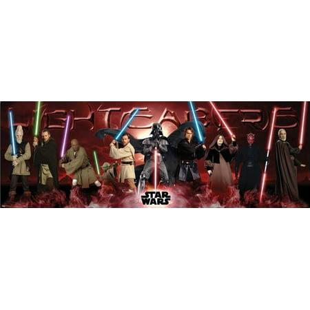 2 Door Poster (Star Wars: Episode I, II & III - Door Movie Poster / Print (Lightsabers - Jedi Vs. Sith) (Size: 62