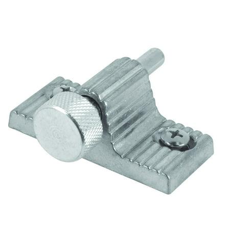 Twist Lock Accent - U 9848 Sliding Door Lock, Twist-in, Aluminum Finish, Zinc plated cast metal housing with twist in action By Defender Security