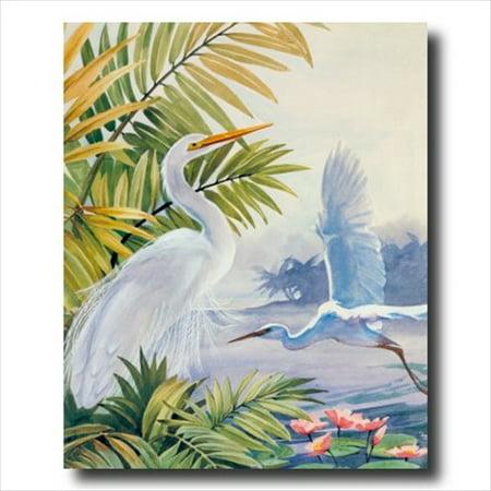 Egret Bird Tropical Lake Beach Wall Picture Art Print Art Com Tropical Print
