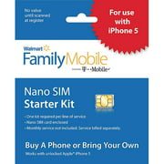 Walmart Family Mobile Nano Sim Kit