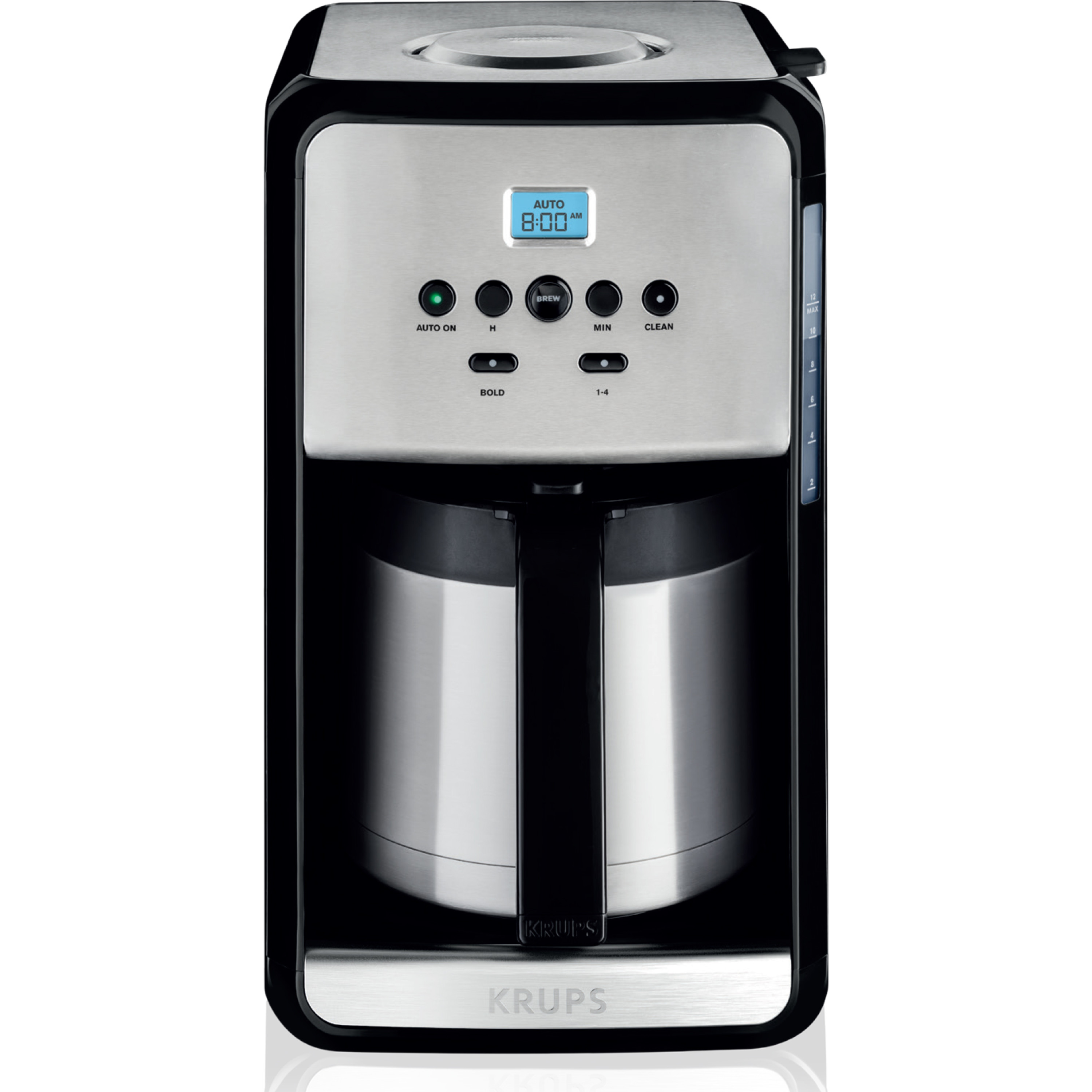 KRUPS, 12-Cup Programmable Thermal Filter Coffee Maker, Stainless Steel, Savoy ET353050