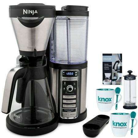 Ninja CF081 Coffee Bar with Glass Carafe with Descaling Powder and Mugs (Refurbished) ()
