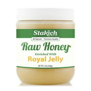 Stakich Royal Jelly Enriched Raw Honey, 5.0 Lb
