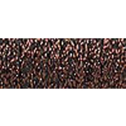Kreinik Fine Metallic Braid, #8, 11yd, Brown