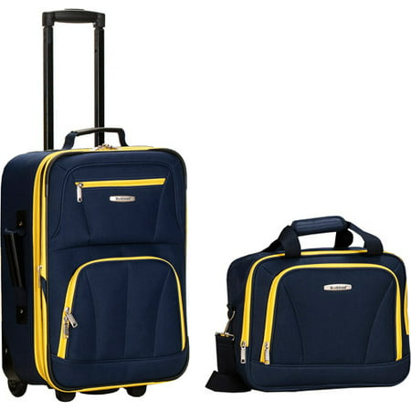 Rockland Fashion 2pc Luggage Set - Navy