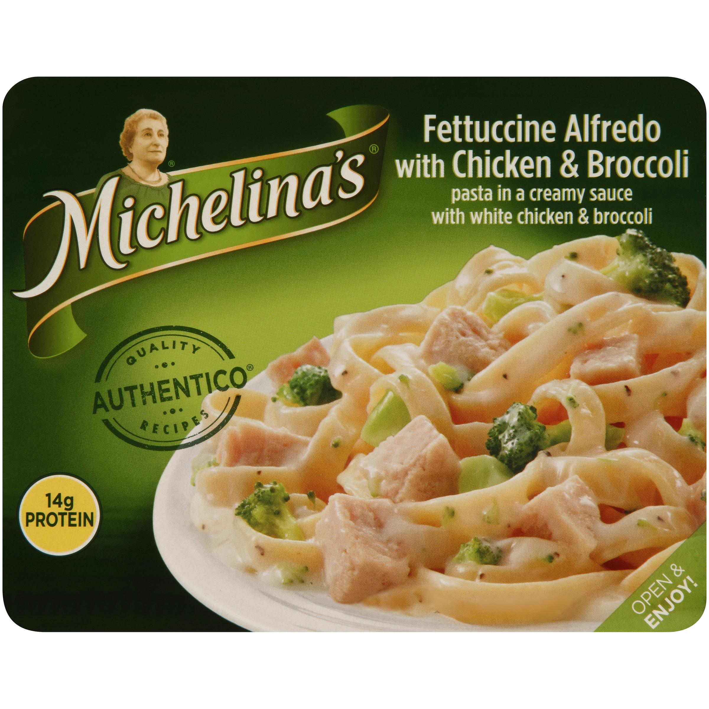 Michelina's�� Authentico�� Fettuccine Alfredo with Chicken & Broccoli 8 oz. Tray