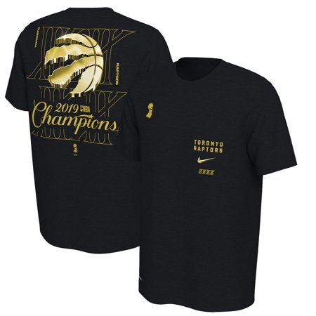 cheap for discount bcca3 1a5f8 Toronto Raptors Nike 2019 NBA Finals Champions Celebration Expressive  Performance T-Shirt - Black - XL