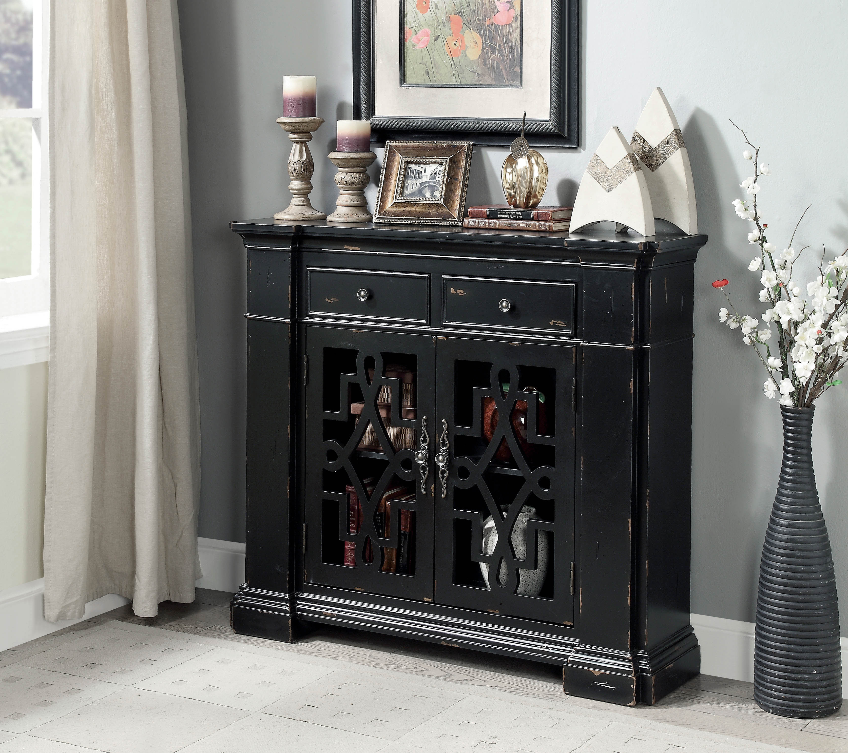 Delicieux Furniture Of America Cristiano Vintage Entryway Cabinet