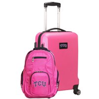 TCU Horned Frogs Deluxe 2-Piece Backpack and Carry-On Set - Pink