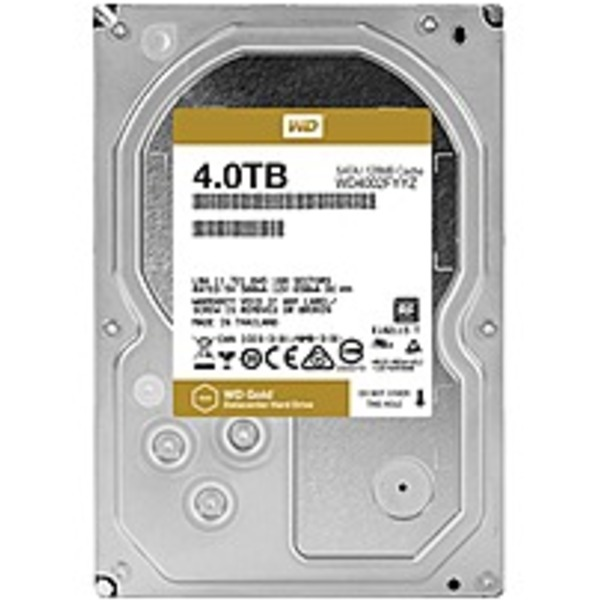 WD Gold 4TB high-capacity datacenter hard drive - 7200rpm - 128 MB Buffer