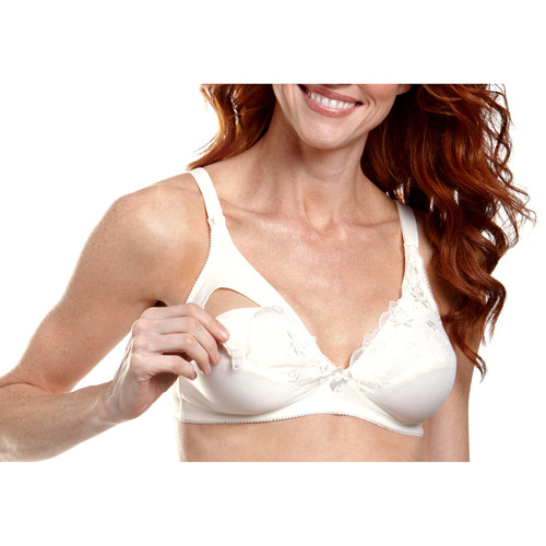 Maternity Softcup Nursing Bra with Lace Top Cup
