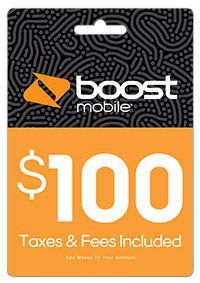 Boost Mobile $100 Re-Boost Card (Email Delivery) by INTERACTIVE COMMUNICATIONS