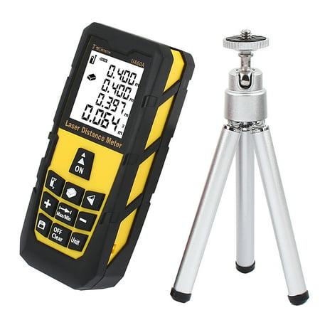 196ft 60M Digital Laser  Measure Rangefinder Yellow w Tripod