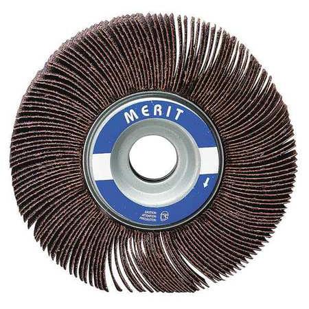 MERIT 08834137340 Flap Wheel,1-1/2  Dia,1  W,Shk 1/4, 60