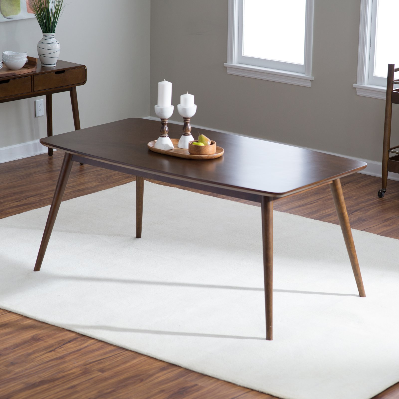 Belham Living Carter Mid-Century Modern Dining Table - Walmart.com