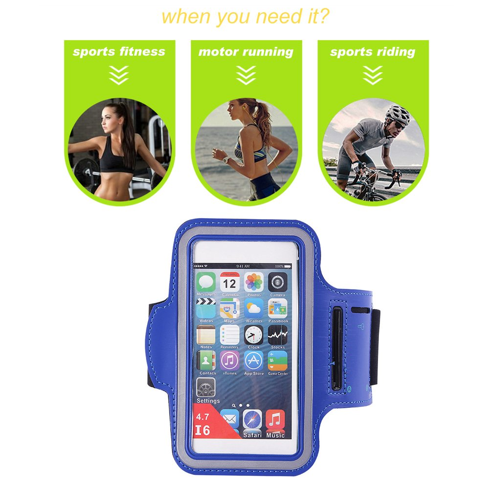 reputable site fc12f 8fb93 Universal Arm Band Case Sport Gym Running Arm Cover Outdoor Breathable  Pouch Bag Suitable for iPhone 7 Plus/6 Plus On Sale