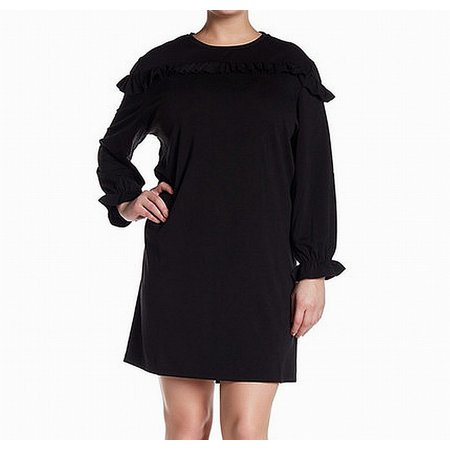bc3ff04e407 Ceny - Ceny Deep Women s Plus Ruffle Trim Sweater Dress - Walmart.com