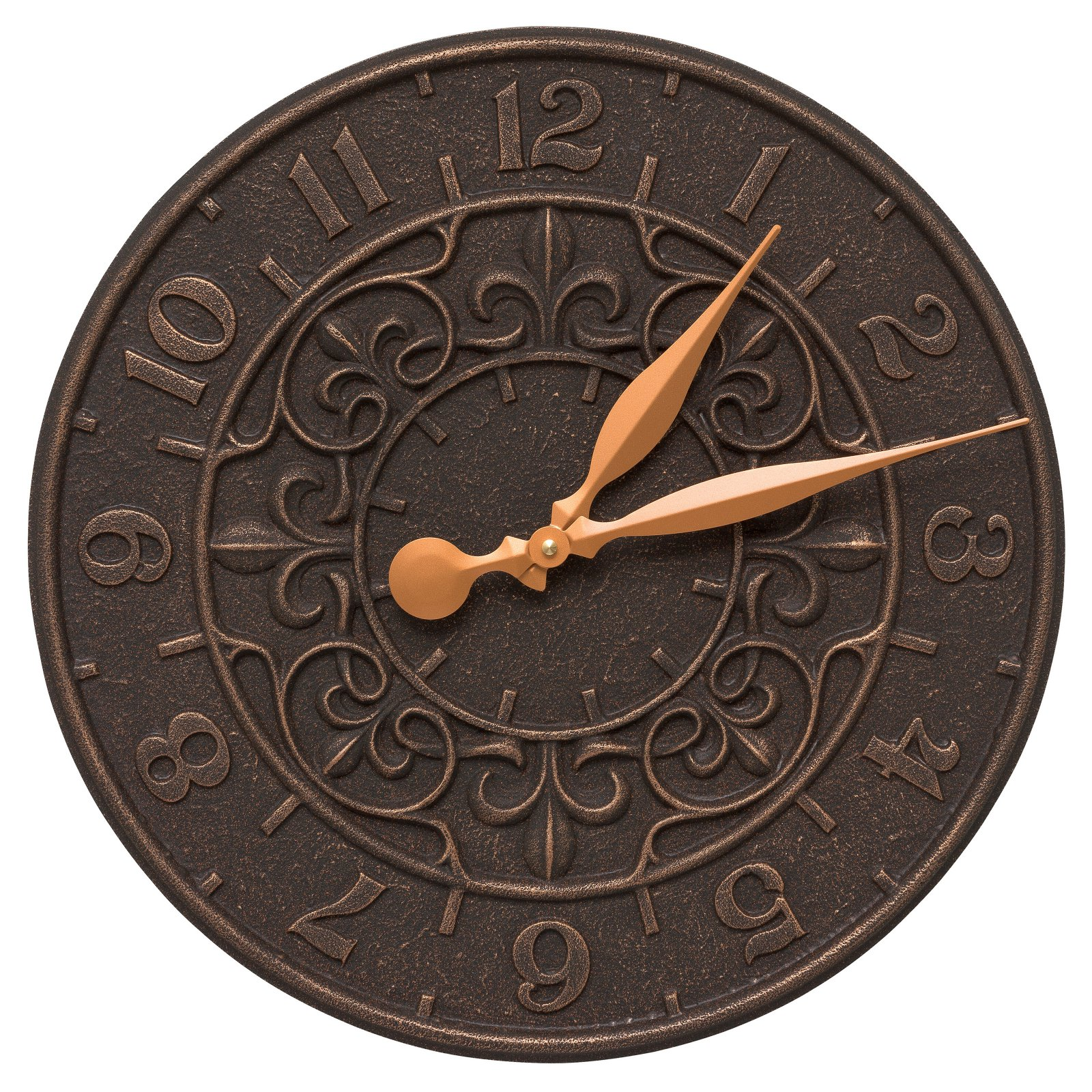 Whitehall Products Vine and Fleur 16-in. Indoor/Outdoor Wall Clock