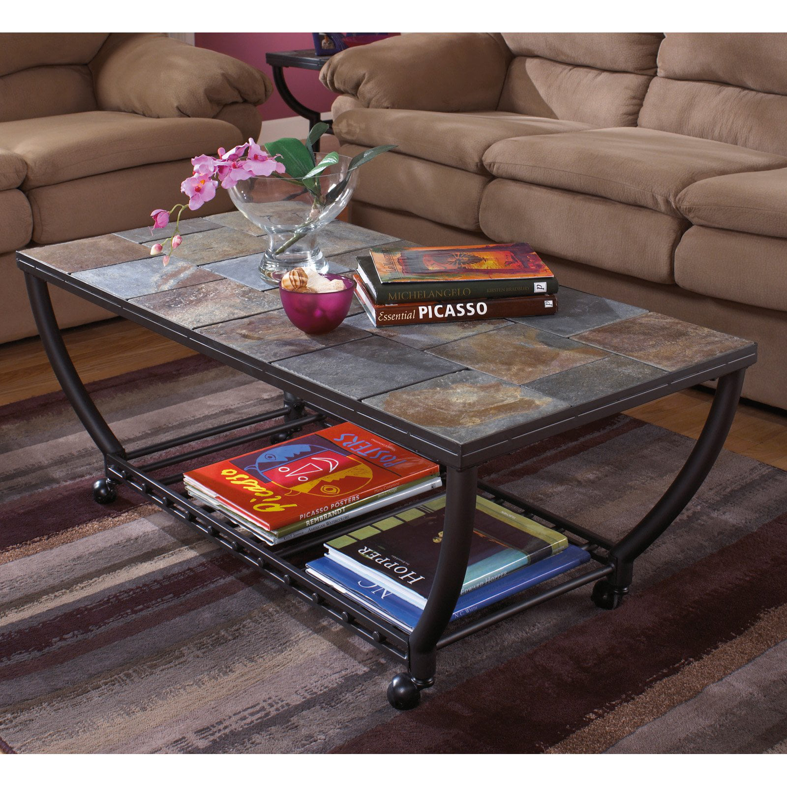 Click here to buy Signature Design By Ashley Antigo Gunmetal Rectangular Cocktail Table by Ashley Furniture.