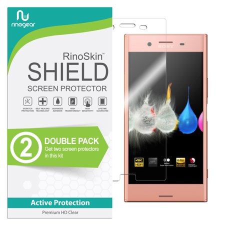 (2-Pack) Sony Xperia XZ RinoGear Flexible Screen Protector RinoGear Flexible HD Invisible Clear Shield Anti-Bubble Unlimited Replacement