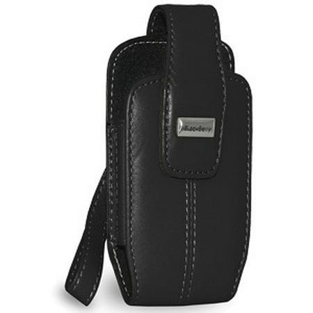 Blackberry Case, Premium Leather Protective Handy Pouch Hard Cover for BlackBerry 8130, BlackBerry 8100, BlackBerry Pearl- Pitch Black (Blackberry 8100 Pda Cell Phone)